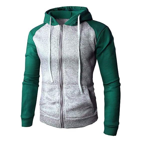 95cf47fc70c2 Sannysis Herren Slim Fit Pullover Herbst Winter Zip Casual Langarm Slim Fit  Tasche Hoodies Jacke Mantel