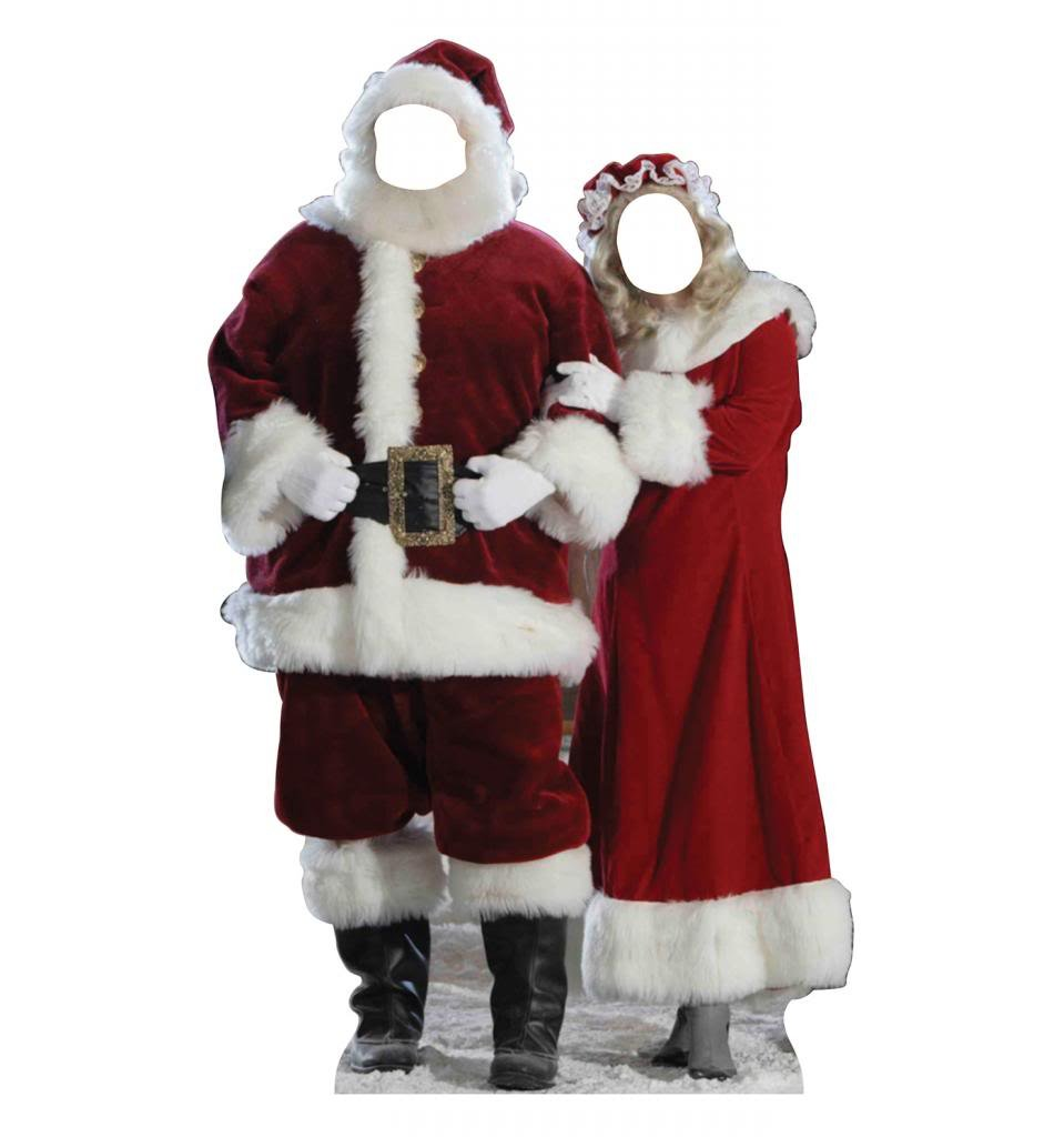 Amazon Santa And Mrs Claus Stand In