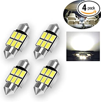 3175 LED Bulb DE3022 LED Bulb 31mm LED Bulbs Pack of 2 Yorkim DE3175 LED Bulb 31mm Festoon LED Bulb White Super Bright CANBUS 10-SMD 4014 Chipsets 3022 LED For Car Interior Lights