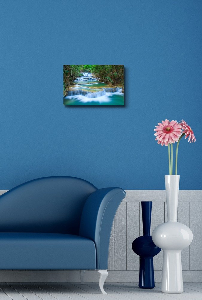 Deep Forest Waterfall in Thailand - Canvas Art Wall Art - 12
