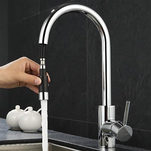 ubeegol 360° Drehbar Wasserhahn Küche mit Brause Küchenarmatur ...