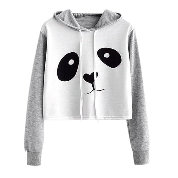VJGOAL Mujeres otoño Moda Casual Dibujos Animados Lindo Panda ...