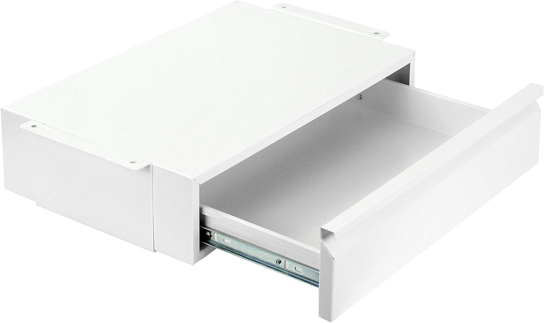 VIVO White 18 inch Office Mounted Sliding Under Desk Pull-out Drawer, Storage Organizer for Sit Stand Workstation (DESK-AC03W)