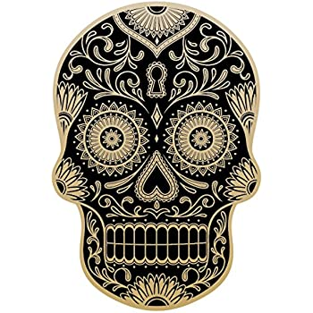 Osmdecals sugar skull sticker version 51 day of the dead vinyl wall home decor car window bumper decal sticker