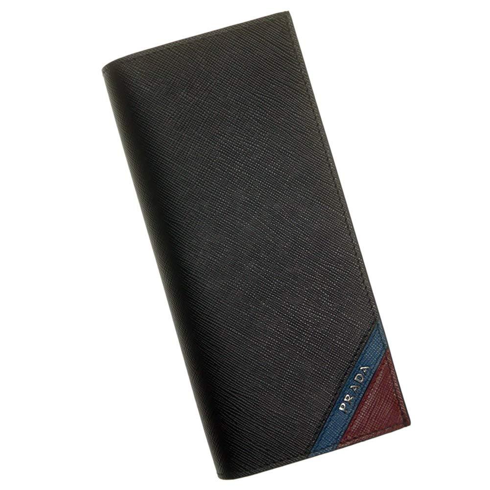[PRADA(プラダ)] 二つ折長財布(小銭入れ付き)SAFFIANO STRIPE / 2MV836 2EGO メンズ [並行輸入品] B07PBDVRJW