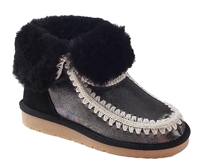c2de81d7c50 Ozwear UGG Eskimo Pearl Lady Snow Boots Black AU 7L/EU 38/ US7/ UK5 ...