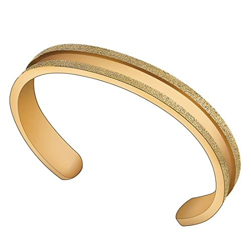 Amazon.com  ZUOBAO Stainless Steel Elastic Hair tie Bracelet Brushed Edges  for Women Girls (Gold)  Jewelry f153ec0d1a2