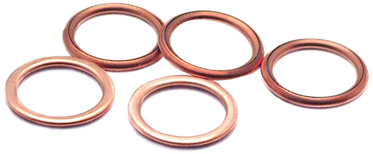 Cartec 211618/Juego de 5/metalloplastic tap/ón de drenaje arandelas//juntas 18/mm