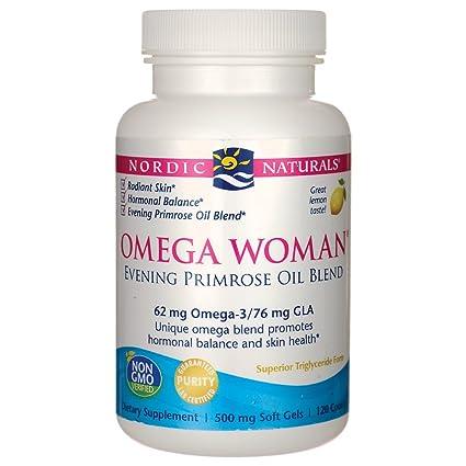 Omega mujer, mezcla el aceite de onagra, limón, 500 mg - Nordic Naturals