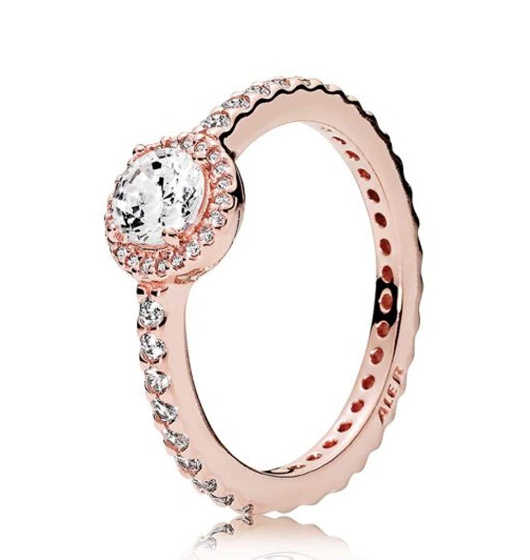 Classic Elegance Ring, Pandora Rose & Clear Cz 180946 Cz by Pandora