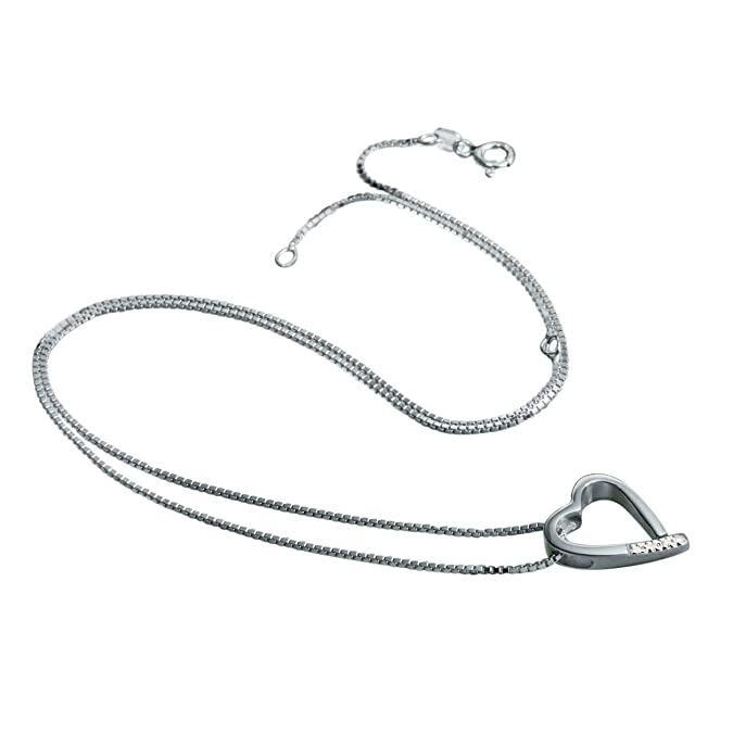 Hot Diamonds DP100 - Collar de mujer de plata de ley con 4 diamantes, 45 cm:  Amazon.es: Joyería