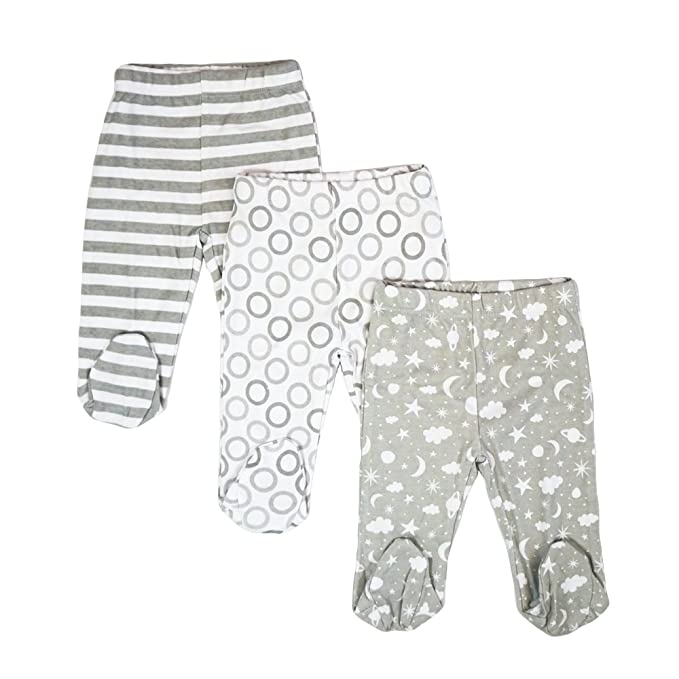 879c3f2e31f3a Amazon.com: Spasilk Baby Boys 3 Pack Cotton Footed Pants: Clothing