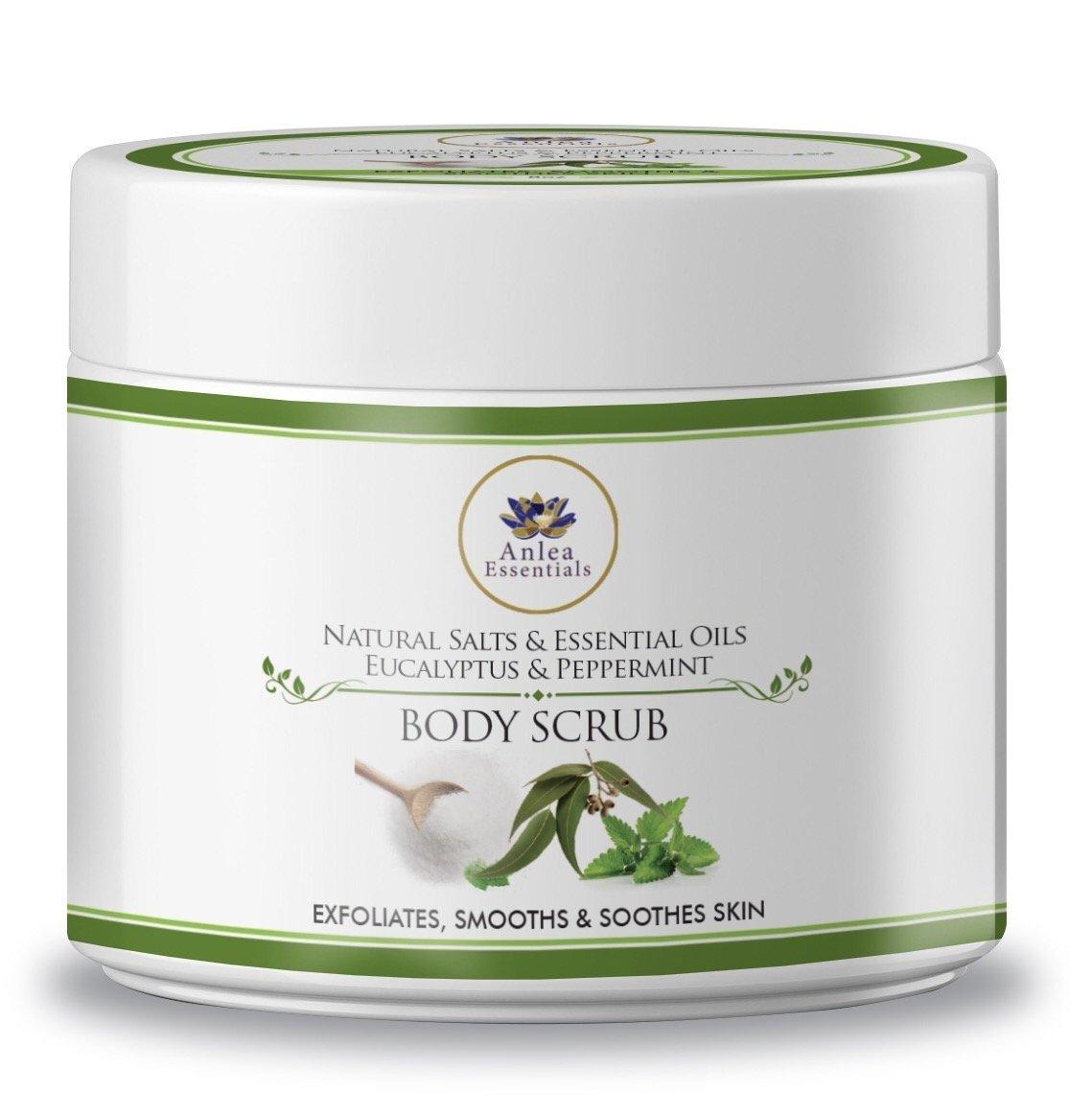Anlea Essentials Eucalyptus & Peppermint Exfoliating Body Scrub 8oz