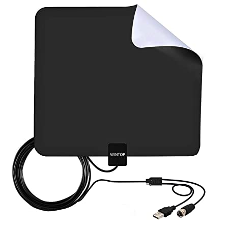 Review Amplified HDTV Antenna,50 Miles