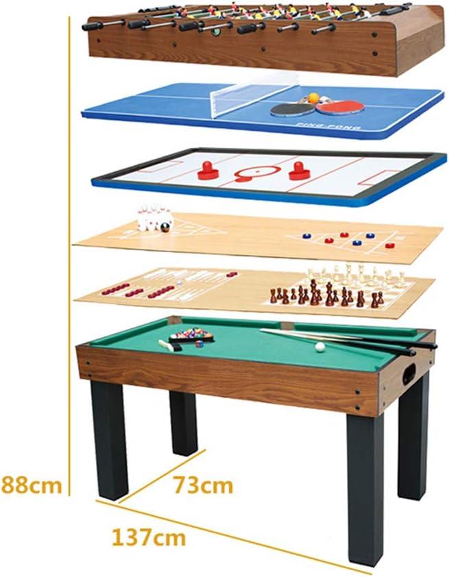 AMAIRS Mesa De Futbolín, Mesa De Juego Combinada 8 En 1 Que Incluye Futbolín /Billar/Hockey/Tenis De Mesa/Backgammon/Ajedrez/Tejo/Bolos: Amazon.es: Deportes y aire libre