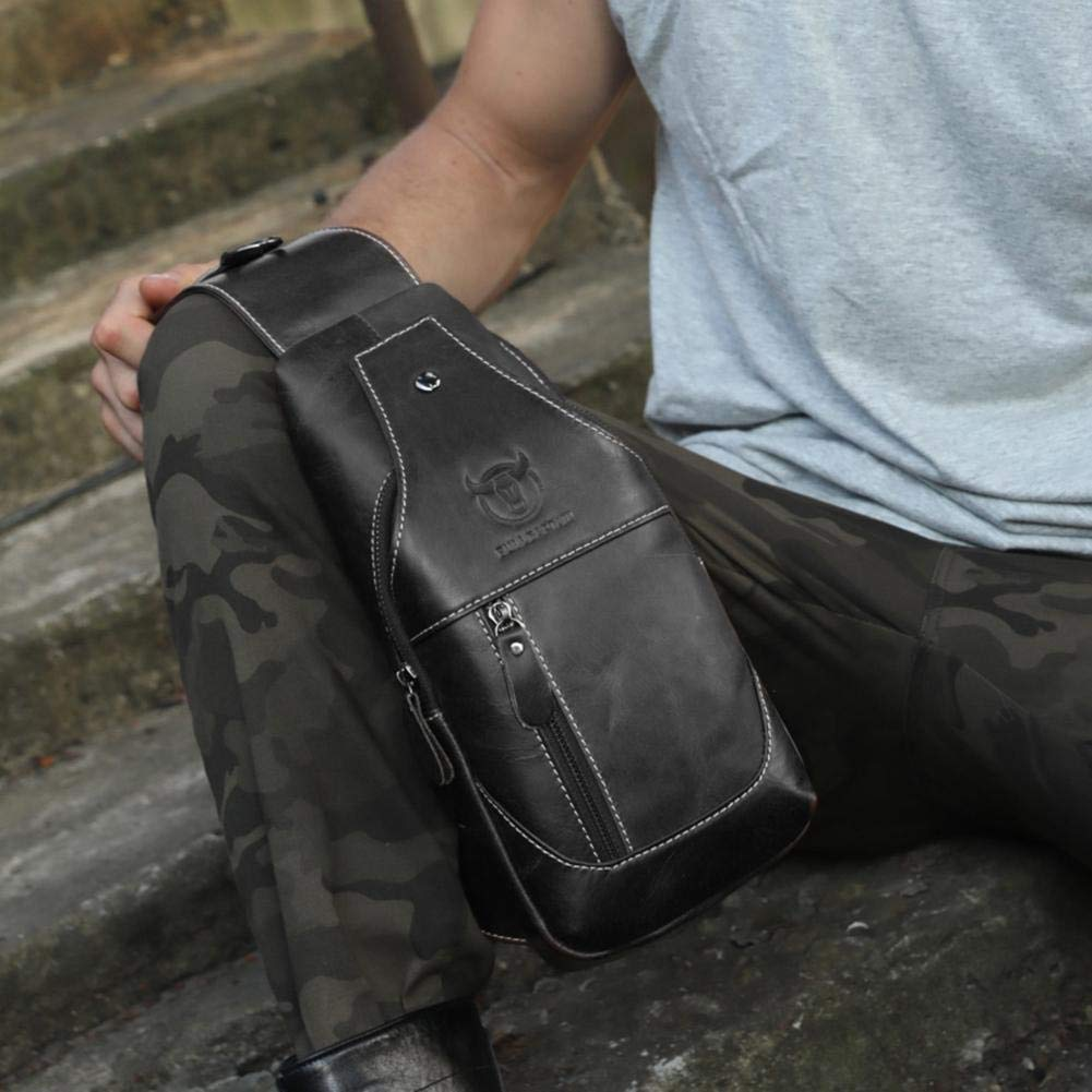 Black Bull Captain Retro Men Shoulder Bags Waist Chest Pack Crossbody Bag