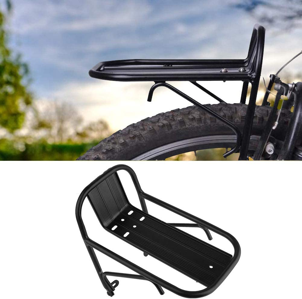 Bicycle Front Rack Aluminum Alloy Bike Luggage Shelf Carrier Panniers Bracket