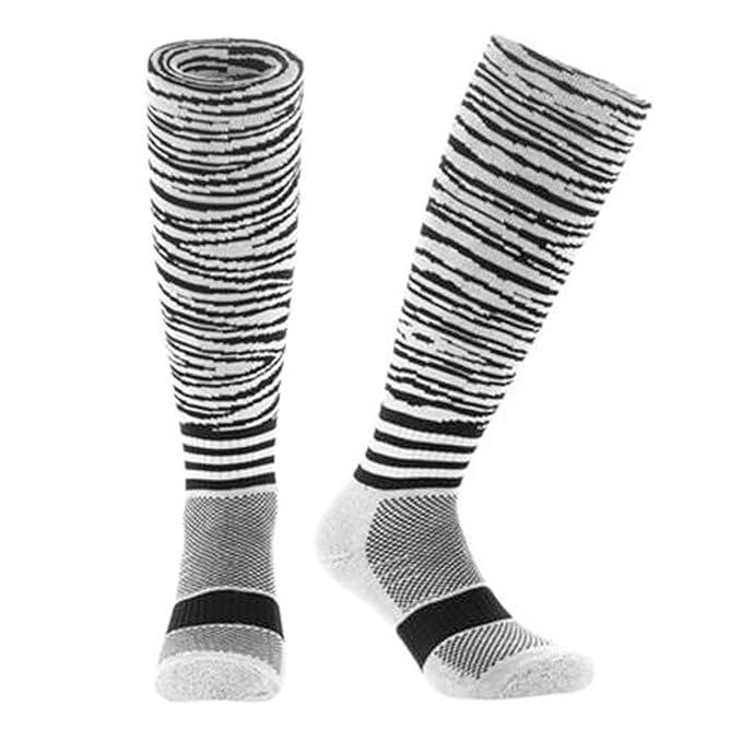Samson Hosiery ® Moda cebra imprimir FUNKY novedad regalo calcetines de fútbol RUGBY deportes y Casual