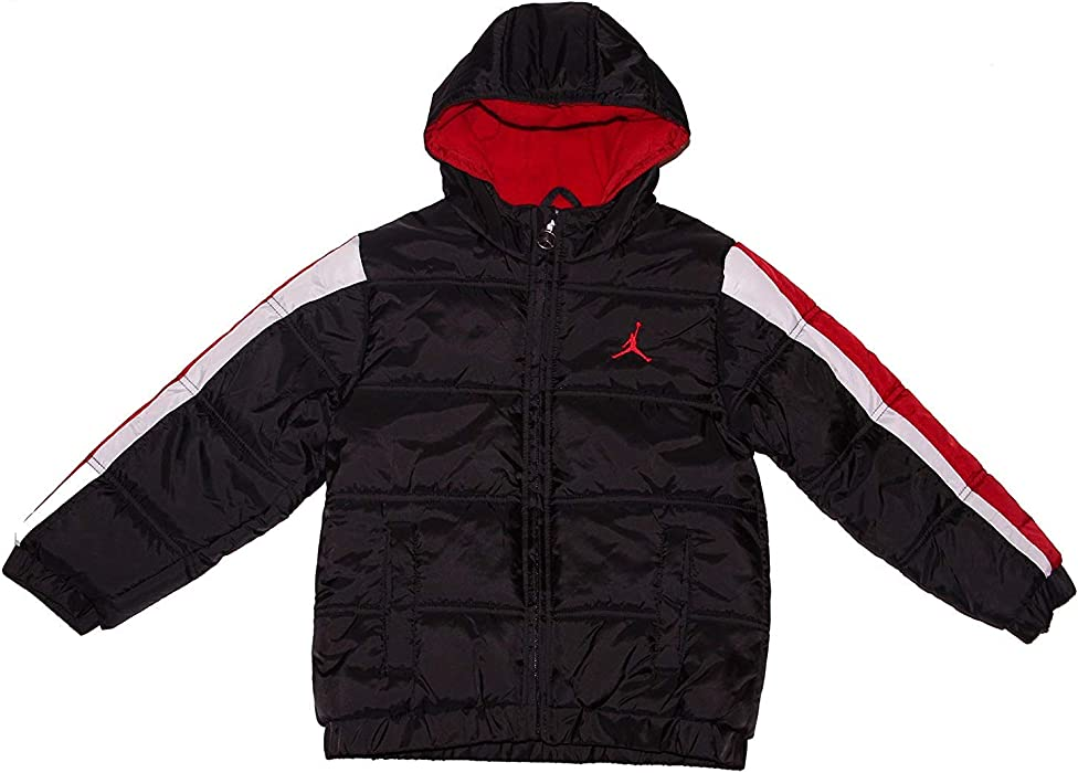quality design c658d c60ea Jordan Nike Air Boys  Puffer Bubble Hooded Jacket, 4T (3-4 Yrs