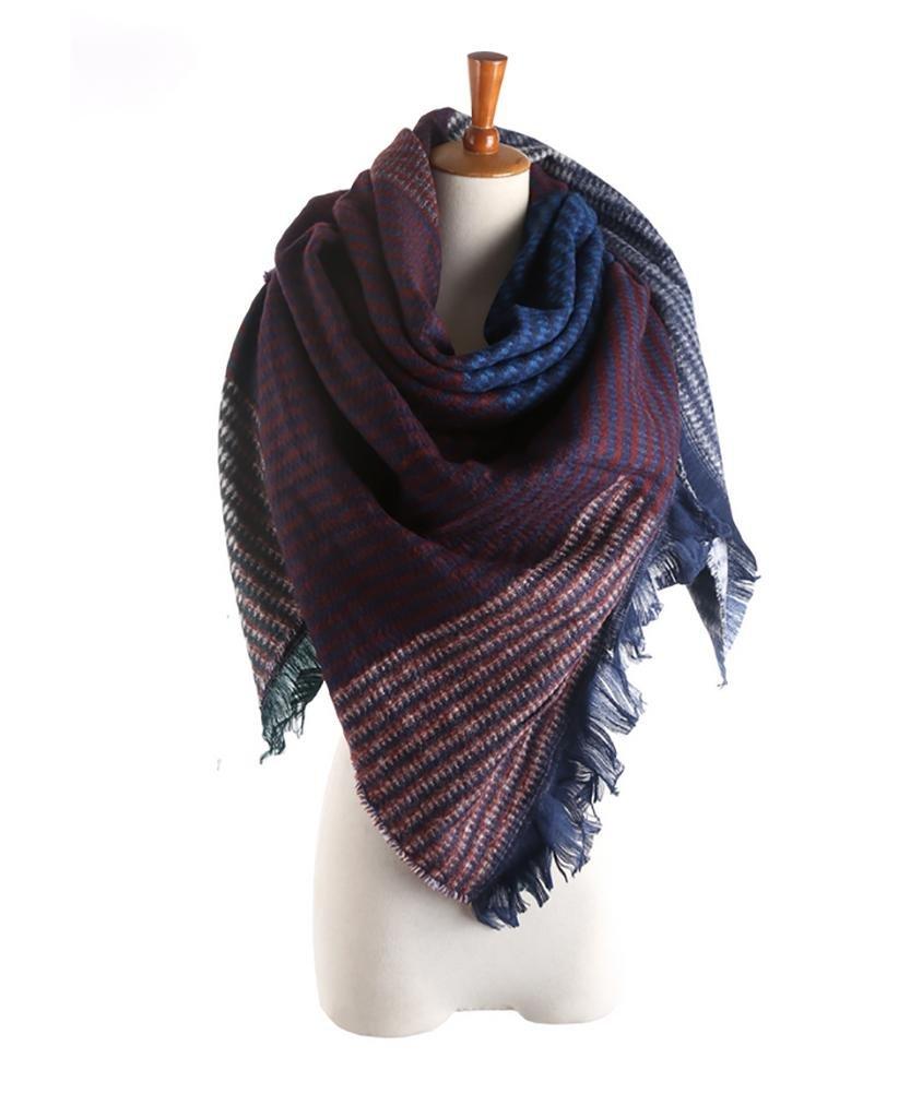 SALY Bufandas de otoño para mujer con estilo Bufanda de abrigo suave y cálida con borlas , C