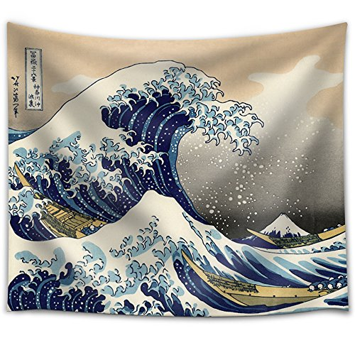 Fabric Tapestry The Great Wave Off Kanagawa Japanese Wall