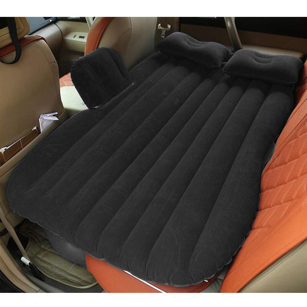 Mami-Team Car Air Mattress Bed Inflatable Travel Back Seat Sleep Rest Mat Pillow Pump Lightweight Folded Cushion SUV Weight: 2.6 kg/5.7lbs Inflated Size 53.54 x 33.07 x 17.32 Inches (Black) by Mami-Team (Image #7)