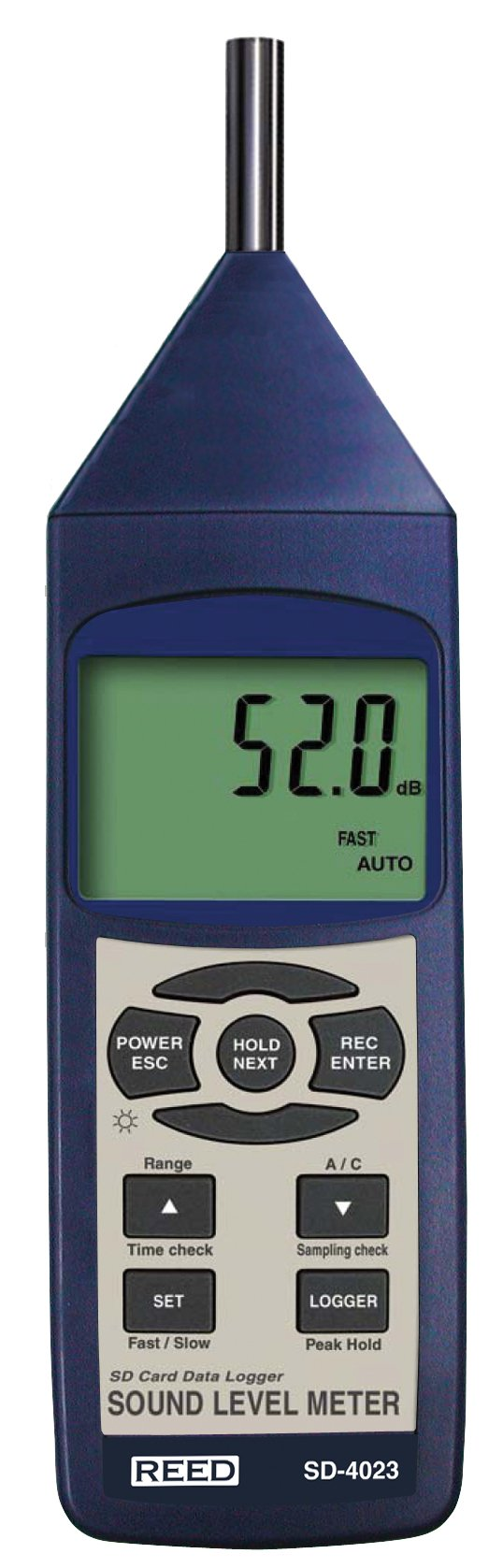 REED Instruments SD-4023 Sound Level Meter, Datalogger, 30 to 130dB