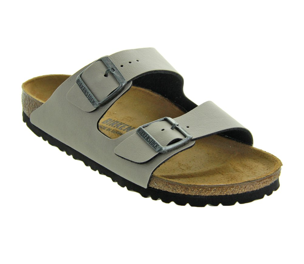 Birkenstock Women's Arizona  Birko-Flo Stone Birko-flor Pull Up Sandals - 42 M EU / 11-11.5 B(M) US