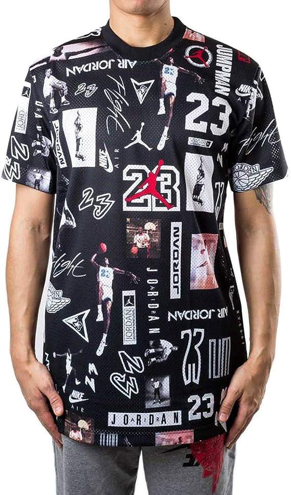 Nike Jordan Jumpman GFX - Camiseta para hombre, color negro Nero/Multicolor S: Amazon.es: Deportes y aire libre