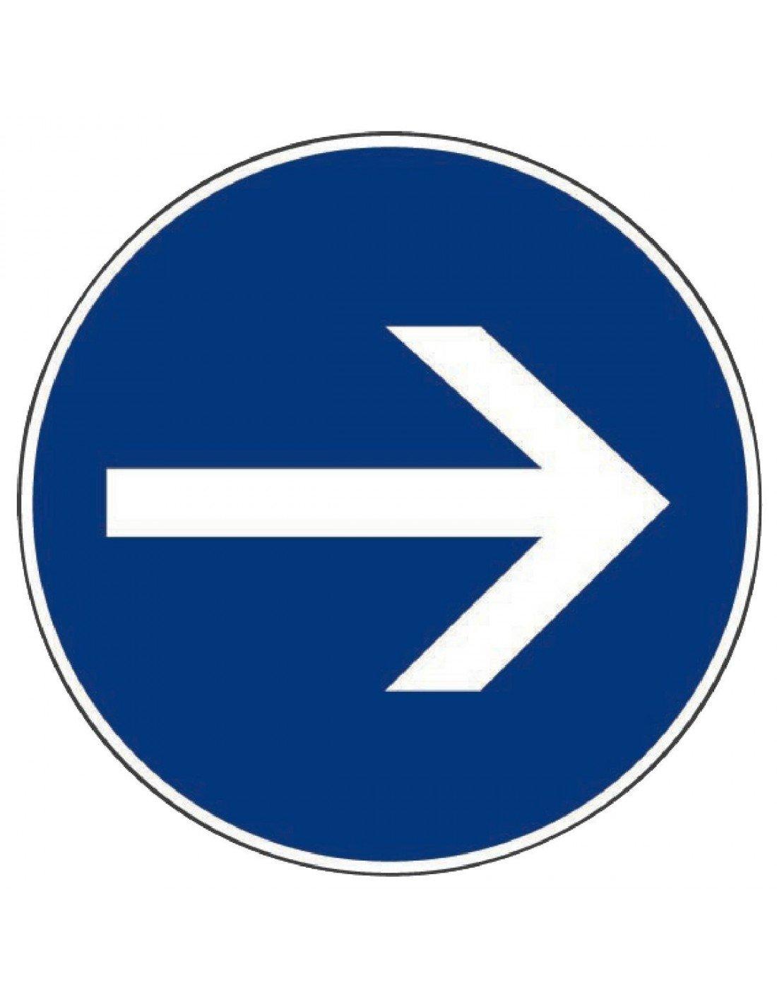 Outibat - Panneaux de signalisation ronds / Sens obligatoire Bricodeal