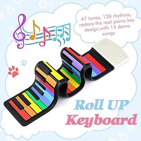 RYSD-MT Pianos para Niños Teclados Rainbow 49 Teclas Estándar ...