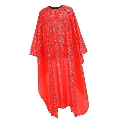 Sharplace Rojo Vestido de Peluquería Profesional Capas de Corte de Pelo Batas