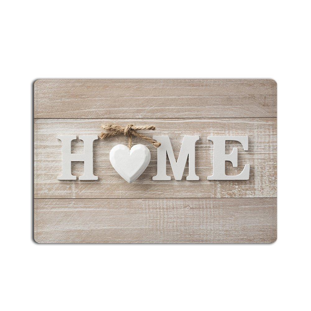 Libaoge Fresh HOME with Rustic Old Barn Wood Print Doormat Welcome Mat Entrance Mat Indoor/Outdoor Door Mats Floor Mat Bath Mat