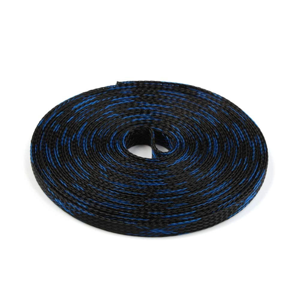Insulation Braided Sleeves 6mm Tight PET Expandable 5M Cable Sleeves Wire Gland Cables High Density Protection