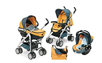 Chicco 79179290200 Scoop - Carrito convertible (3 posiciones), color naranja y gris: Amazon.es: Bebé