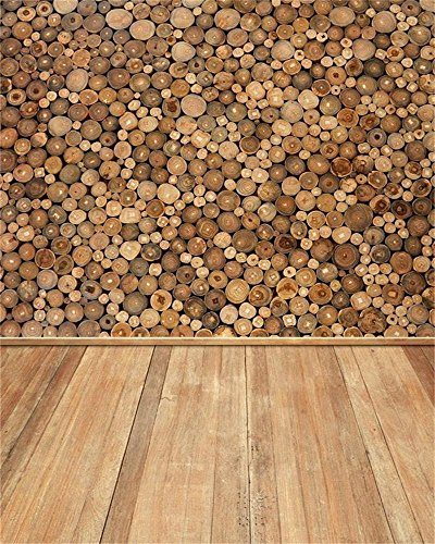 AOFOTO 8x10ft Wood Stacked Photography Backdrop Wooden Grain Ring Log Pile Firewoods Background Vintage Rustic Photo Studio Props Man Adult Woman Artistic Portrait Seamless Wallpaper