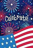 Celebrate Patriotic Garden Flag 4th of July Fireworks USA 12.5