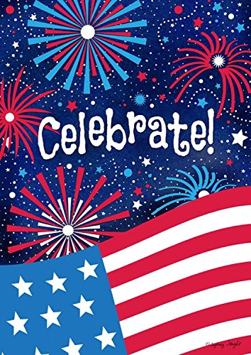 Celebrate Patriotic House Flag Fourth of July Fireworks USA 28