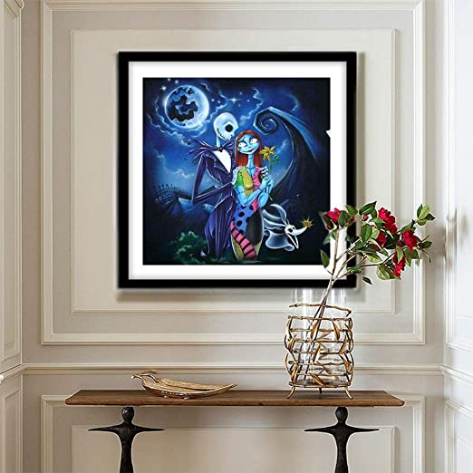 Leezeshaw 5D DIY Diamond Painting by Number Kits Fameless Rhinestone Embroidery Paintings Pictures for Home Decor Jack 30x40cm