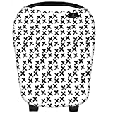 Baby Car Seat Cover Canopy | Premium 360° Nursing Cover for Breastfeeding Babies | Infant Car Seat Cover | 5 in 1 Multi-use for Boys or Girls | Shopping Cart Highchair Cover | Infinity Nursing Scarf