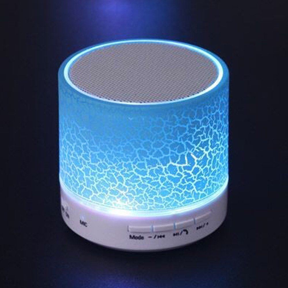 ZhaoCai MINI Wireless Bluetooth Speaker, usb speakers Portable Music Sound Box Subwoofer hand-free call LED Speaker (blue)