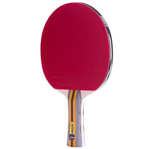 Atemi - Set de 3 Piezas de Pala de Ping Pong de 5 Estrellas Sniper: Funda, 3 Pelotas y Raqueta de Tenis de Mesa | Juego Polivalente Profesional y ...