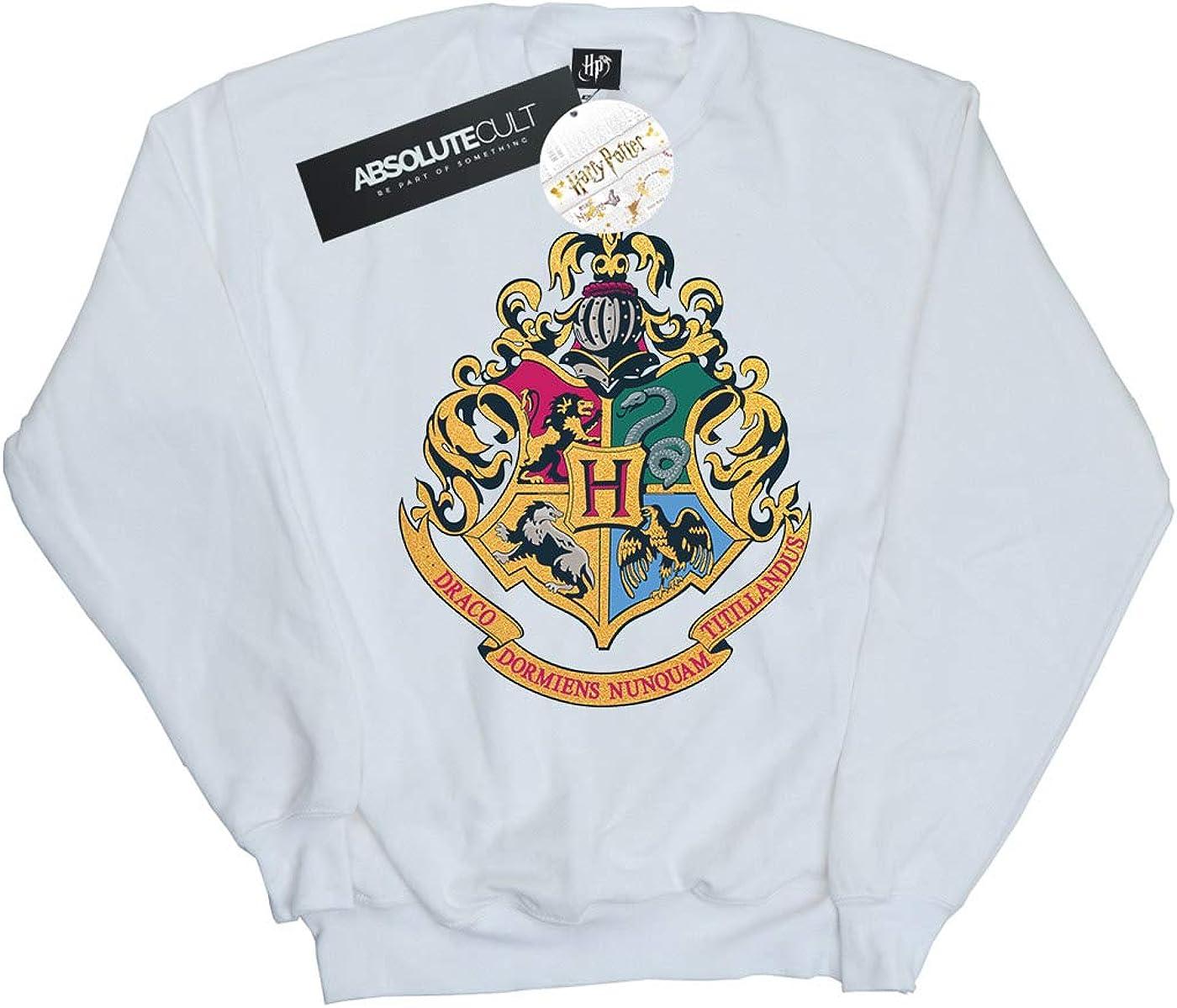 Harry Potter Ni/ñas Hogwarts Crest Gold Ink Camisa De Entrenamiento