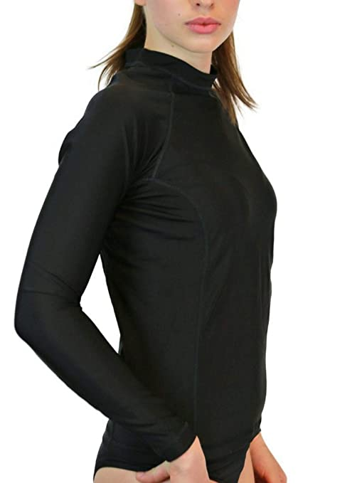 5cdbcf2a20 Rash Guard for Women - Long Sleeve Swim Shirt, UV 50 Skin Protection, Swim