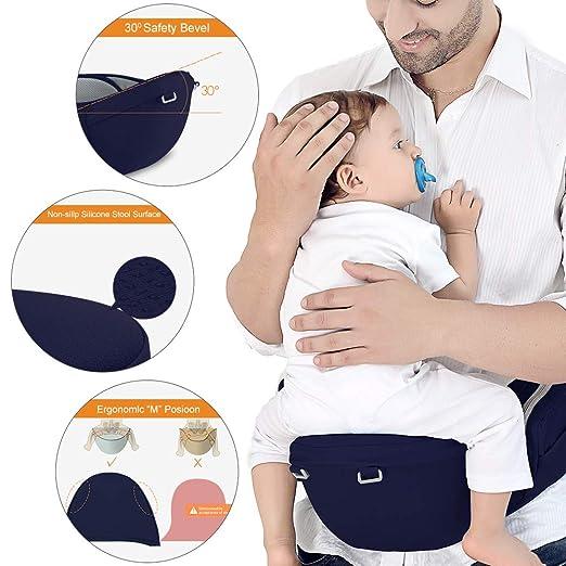 Befestigungsg/ürtel Kopfbedeckung F/ür Neugeborene Bis Kinder Von 0 Bis 36 Monaten Ergonomische Babytrage Kindertrage Mit H/üftsitz Schultergurt L/ätzchen