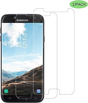 CNXUS [2-Unidades Cristal Templado Compatible con Samsung J7 2017 ...