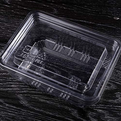 Caja de plástico transparente para frutas y fresas desechables: Amazon.es: Hogar