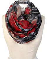 Scarfand's Romantic Rose Print Lightweight Infinity Scarf Wraps