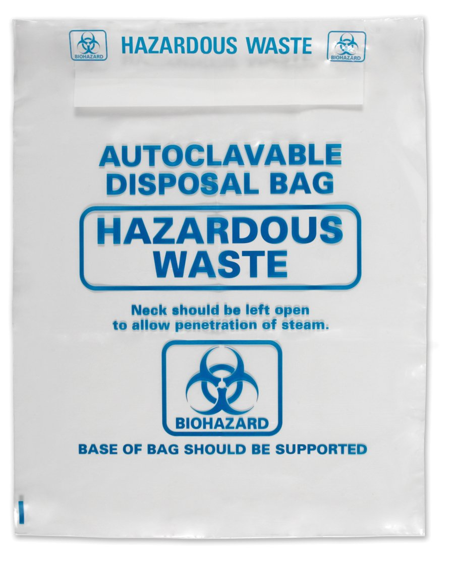 Heathrow Scientific HS1002A Autoclavable Bag, Polypropylene, Disposable, 12.20' x 25.98' in (31.0 x 66.0 cm), Natural, Pack of 200 12.20 x 25.98 in (31.0 x 66.0 cm)