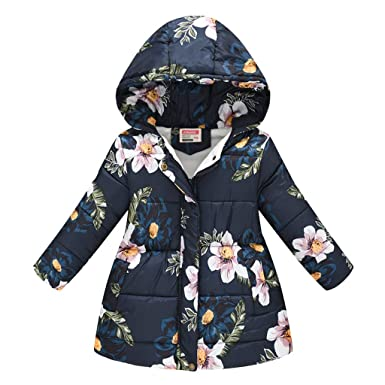 Toddler Baby girls winter Warm Hooded Coat Leopard Outerwea kids Jacket Clothes